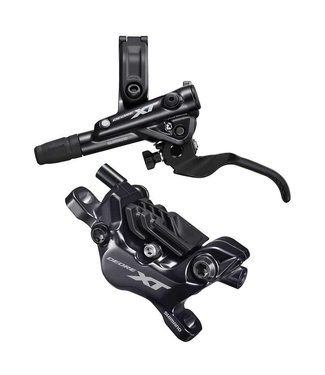 Shimano Shimano, XT BL-M8100/BR-M8120, MTB Hydraulic Disc Brake, Rear, Post mount, Disc: Not included, 410g, Black, Set
