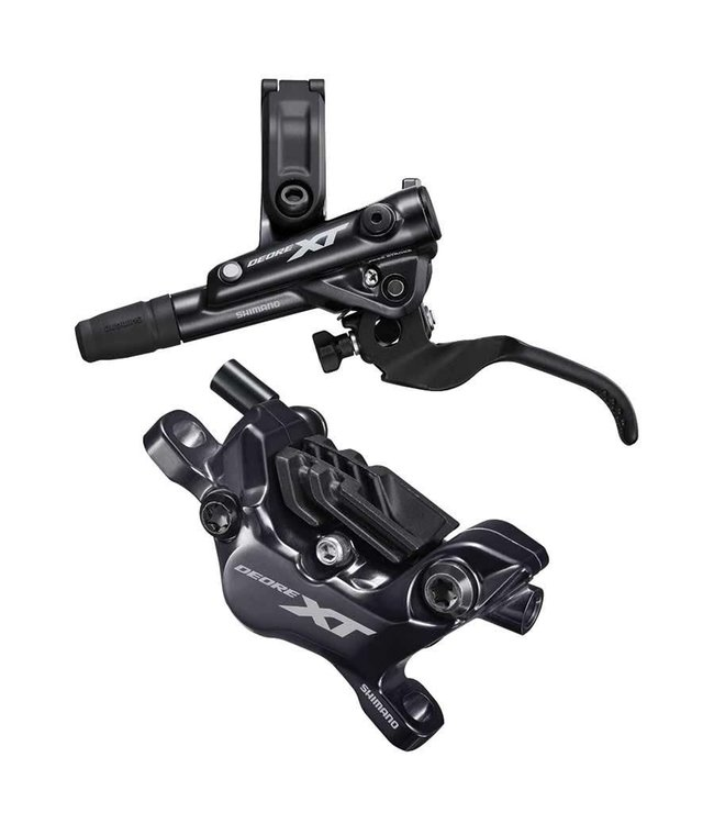 Shimano Shimano, XT BL-M8100/BR-M8120, MTB Hydraulic Disc Brake, Front, Post mount, Disc: Not included, 410g, Black, Set
