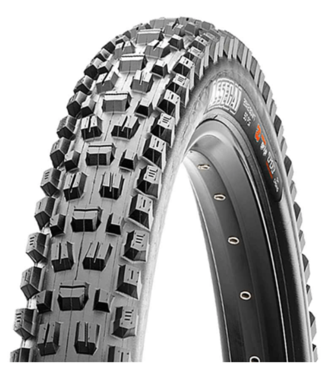 Maxxis Maxxis, Assegai, Tire, 29''x2.50, Folding, Tubeless Ready, 3C Maxx Grip, EXO+, Wide Trail, 120TPI, Black