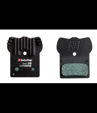 SwissStop, EXOTherm 2, Disc Brake Pads, Shape: Shimano G-Type/F-type/J-type, Metallic, Pair, Black