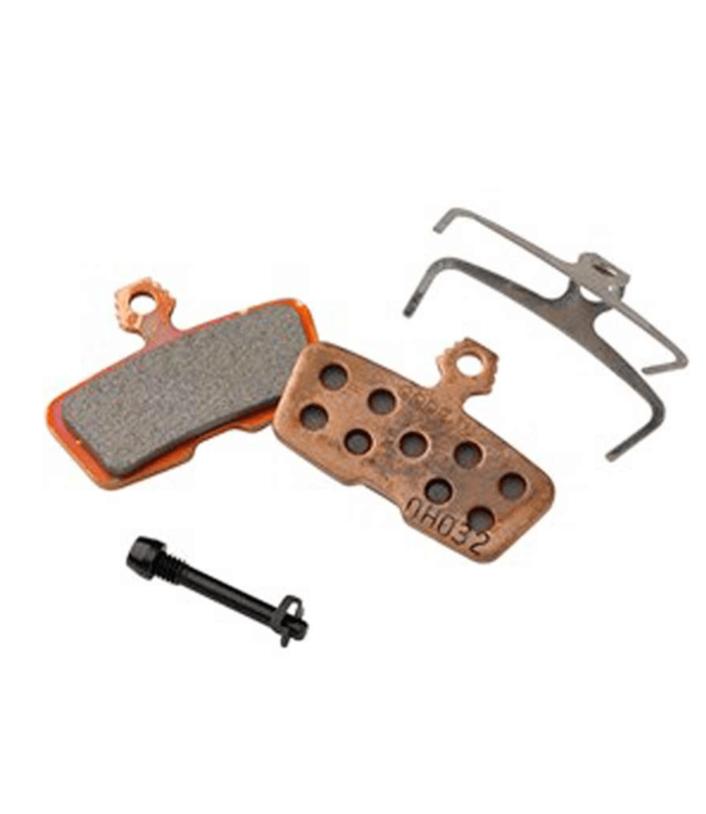 Avid, Code 2011+ Disc brake pads, Sintered metal, Steel back plate, pair, Brown