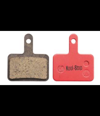 Kool-Stop, Shimano Organic M575/M495 Disk Brake Pads Steel Plate #KS-D620, Red