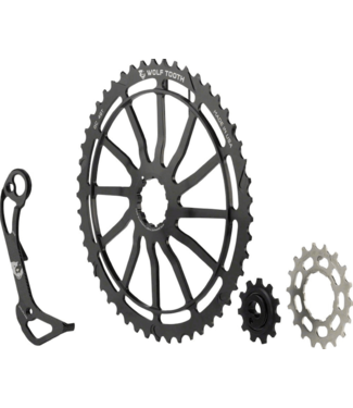 Wolf Tooth Components Wolf Tooth, GC49 Kit, includes GC49, 18T cog and WolfCage XT GS, for Shimano 11-42T 11 sp. cassettes, Black