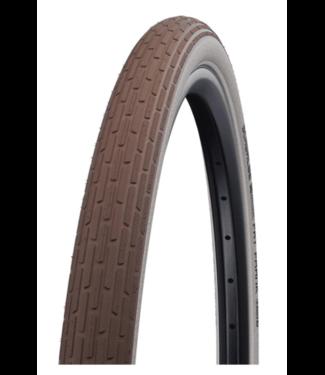 Schwalbe Schwalbe, Fat Frank Tire 26 x 2.35 (60-559) Brown, Reflective Strip, Kevlar Guard, Wire