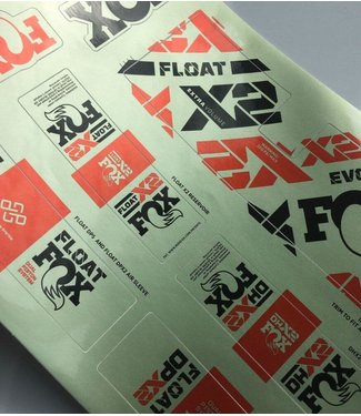 FOX, Decal 2021 Shock, Float, Float X2, DPX2, DHX2, Pistachio Green/Orange