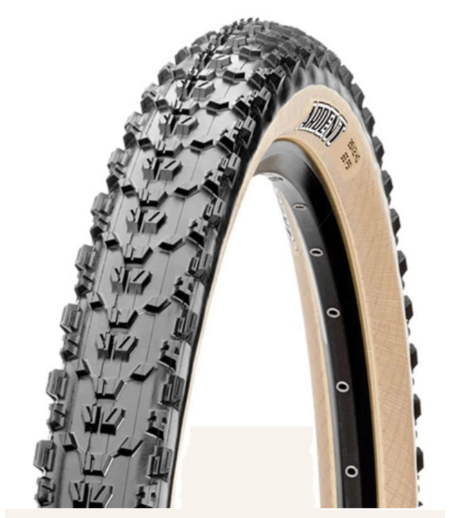 Maxxis Maxxis, Ardent, Tire, 29''x2.40, Folding, Tubeless Ready, Dual, EXO, 60TPI, Tanwall