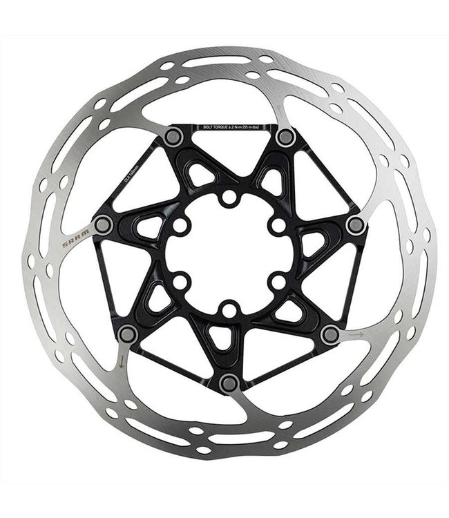 SRAM SRAM, Centerline 2 Piece Rounded, Disc brake rotor, ISO 6B, 180mm, Silver/Black