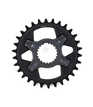 Shimano Shimano, SLX SM-CRM75, Chainring, Teeth: 30, Speed: 12, BCD: Direct Mount, Aluminum/Composite/Steel, Gray