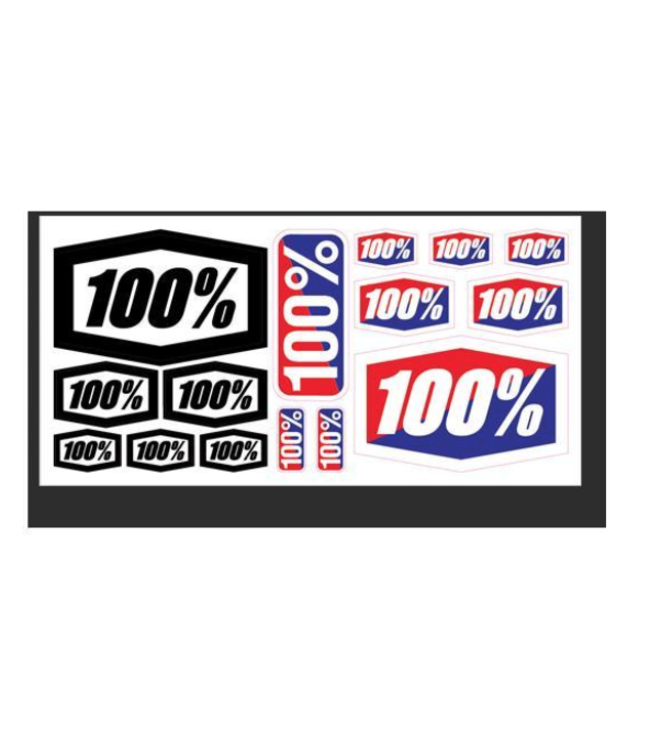"100% 100% Decal Sheet, 8"" x 4"" /each"