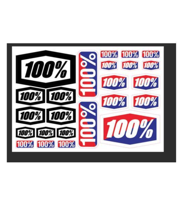 "100% 100%, Decal Sheet, 8"" x 5-1/2"" /each"
