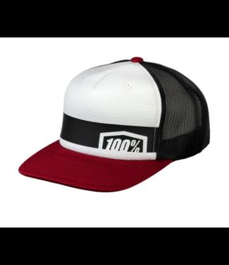100% 100%, Quest Trucker Hat, Brick, One Size