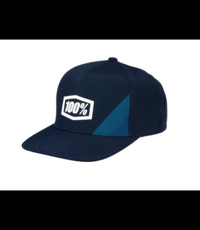 100% 100%, Cornerstone Snapback Hat, Navy, Youth Size