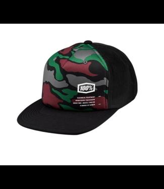 100% 100%, Trooper-Y Camo Hat, Brick, One Size