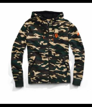 100% 100% Interval Hooded Zip Sweatshirt, Camo, XL