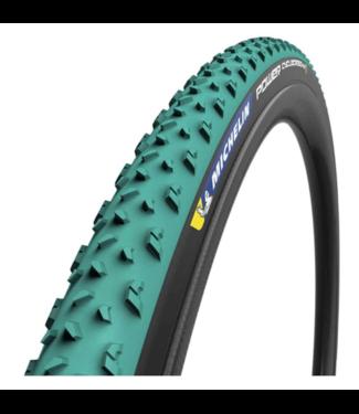 Michelin, Power Cyclocross Mud, Tire, 700x33C, Folding, Tubeless Ready, GreenCompound, Bead2Bead Protek, 3x120TPI, Green