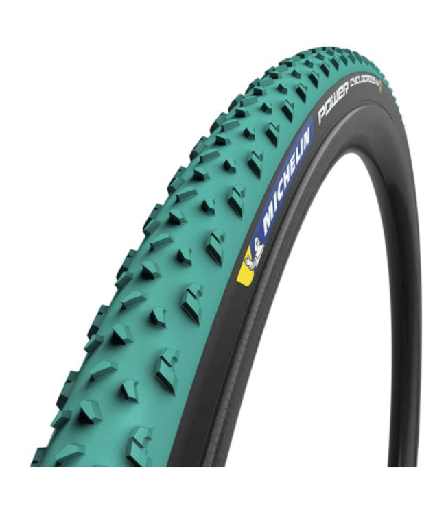 Michelin, Power Cyclocross Mud, Tire, 700x33C, Folding, Tubeless Ready, GreenCompound, Bead2Bead Protek, 3x120TPI, Green