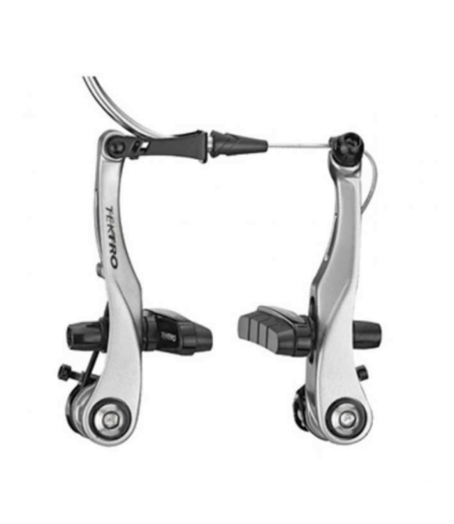 Tektro, RX6, Mini V-Brake, compatible with standard road levers, for one wheel, Silver