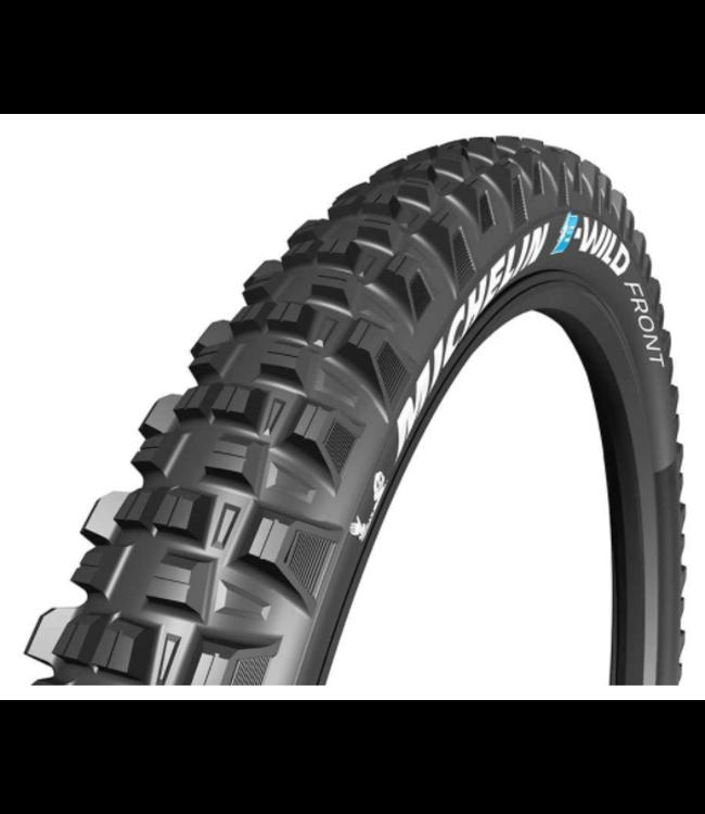 Michelin, E-Wild Front, Tire, Folding, Tubeless Ready, E-GUM-X, GravityShield, 3x60TPI