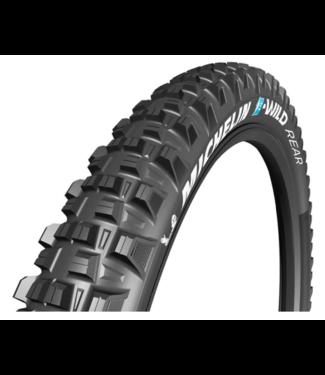 Michelin, E-Wild Rear, Tire, 27.5''x2.60, Folding, Tubeless Ready, E-GUM-X, GravityShield, 3x60TPI, Black