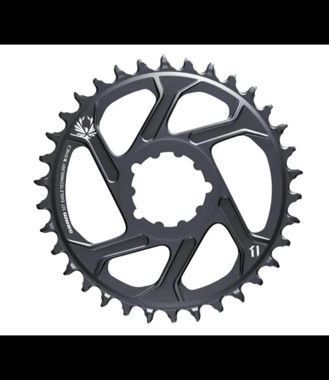SRAM SRAM, Eagle, Chainring, Teeth: 32, Speed: 11/12, BCD: Direct Mount, Aluminum, Lunar/Polar Grey, 3mm