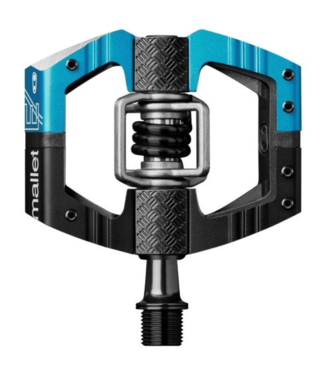 Crank Brothers Crank brothers, Mallet E Long Spindle Pedals, Black & Blue / Blue Spring