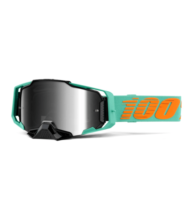 100% 100%, Armega Goggle Black, Silver Flash Mirror Lens