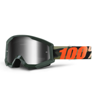 100% 100%, Strata Goggles Huntsitan, Mirror Silver Lens