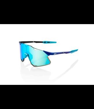 100% 100%, Hypercraft Sunglasses, Matte Metallic - Blue Topaz Multilayer Mirror Lens