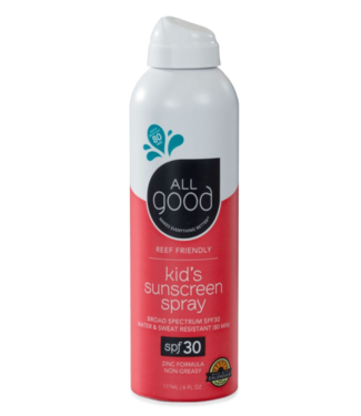 All Good All Good, Kids Sunscreen Spray, SPF 30, 6oz