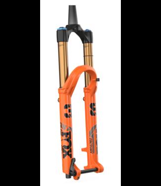 "FOX, 2022 Float 38 Factory 27.5"" 170mm Grip2 HSC, LSC, HSR, LSR Shiny Orange/Clear Black decal  44mm rake"