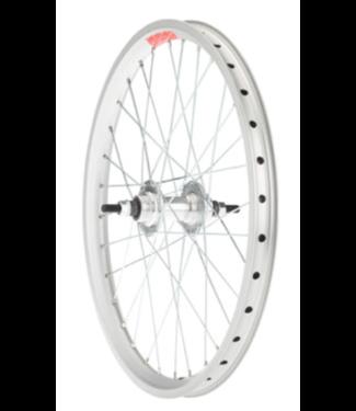"""Sta-Tru Sta-Tru Double Wall Rear Wheel - 20"""", Bolt-On, 3/8 x 110mm, Flip Flop, Silver of Sta-Tru Double Wall Front Wheel - 20"""", Bolt-On, 3/8 x 100mm, Silver"""