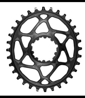 Absolute Black Absolute Black, Oval DM Chainring, 3mm Offset, Requires Hyperglide+ Chain