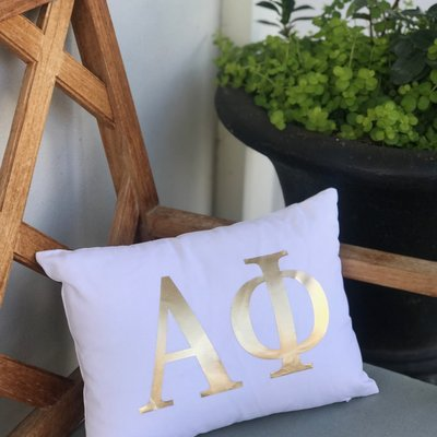 Alpha Phi 12x16 Faux Down Pillow