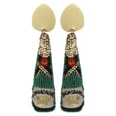 Green Champagne Earrings