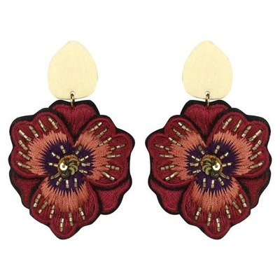 Geraniuim Earrings - Red