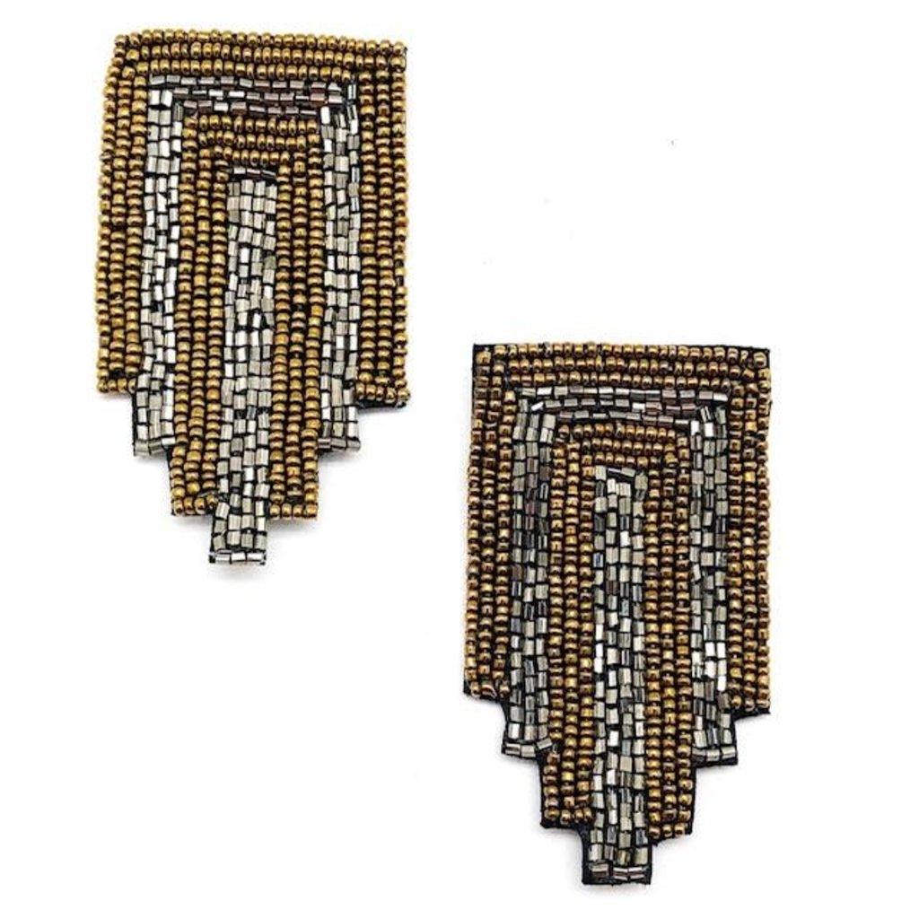 Bronze + Gunmetal Drop Earrings