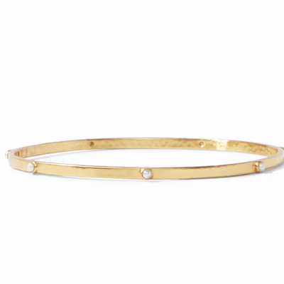 Crescent Bangle Gold Pearl - Medium