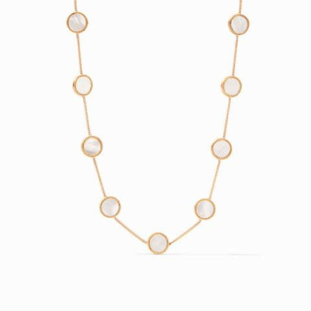 Coin Demi Station Necklace Gold of Pearl