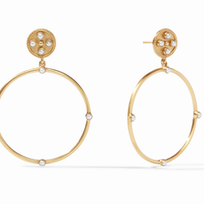 Paris Statement Earring Gold Pearl