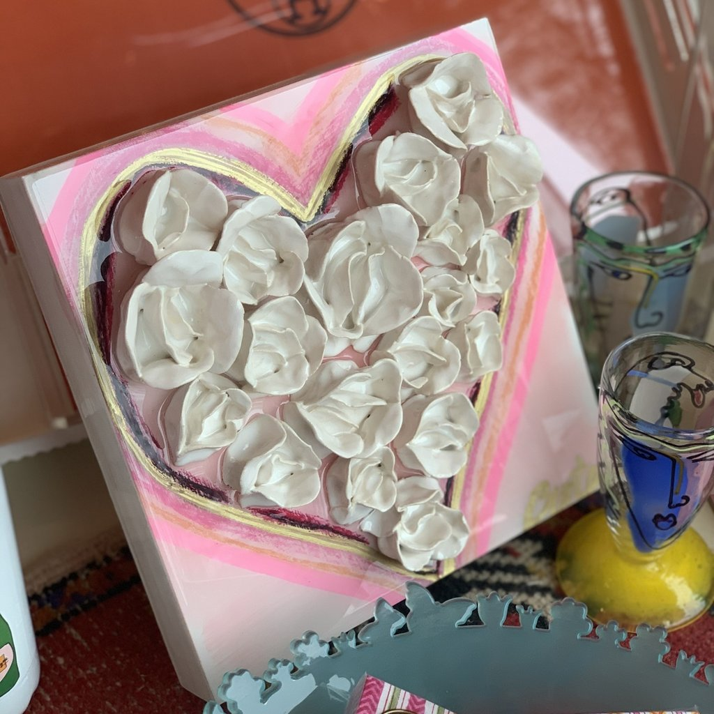 10x10 heart bouquet
