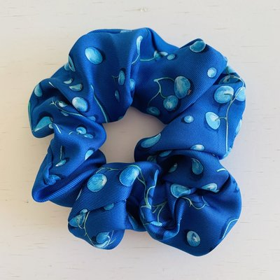 LARGE  Vintage Hermes Scrunchie blue/berry