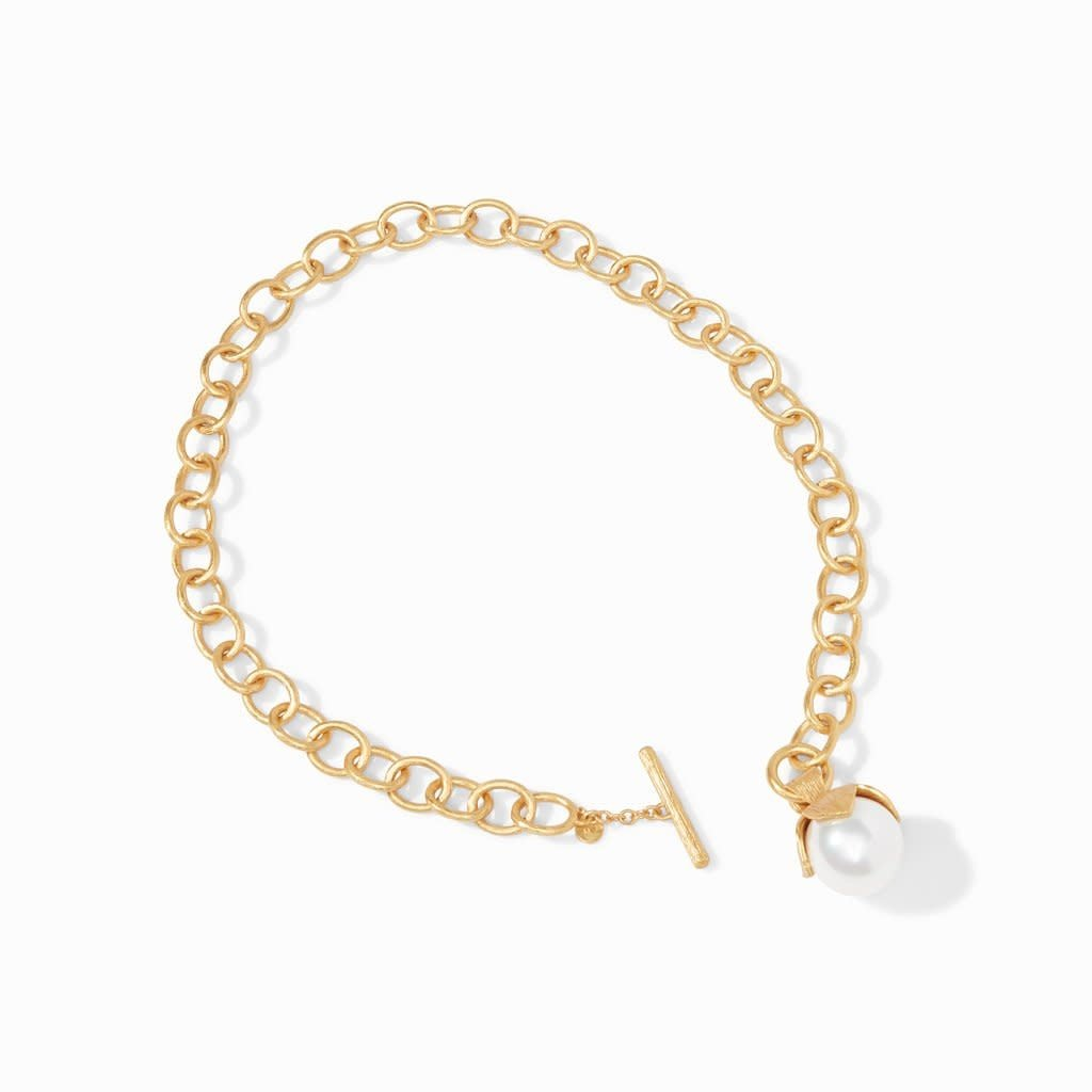 Penelope Statement Necklace Gold Pearl