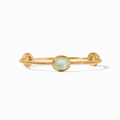 Calypso Bangle Gold Iridescent Seaglass Green Medium