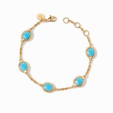 Calypso Delicate Bracelet Gold Pacific Blue