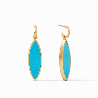 Venus Statement Earring Gold Pacific Blue
