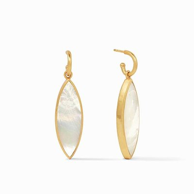 Julie Vos Venus Statement Earring Gold Mother of Pearl