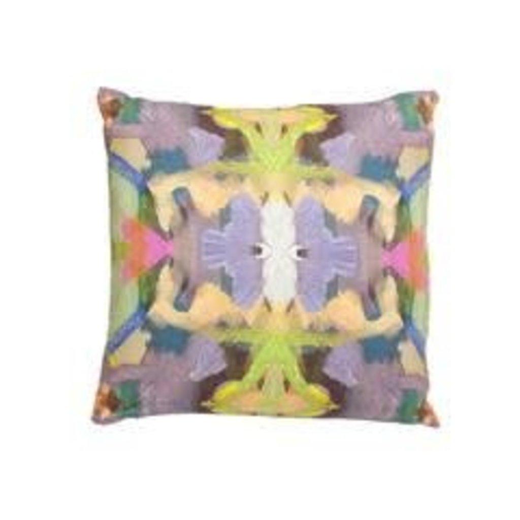 Summer Garden Purple Outdoor Pillow 20x20
