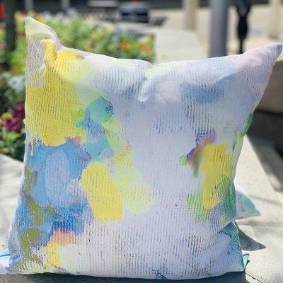 Katherine Beck Butterfly Garden Outdoor Pillow (20x20)