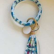 Katherine Beck Indigo Girl Blue Wristlet Key Chain