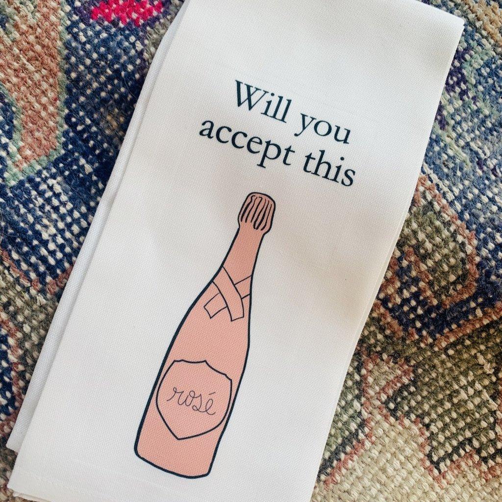 Accept Rose Kitchen Towel